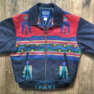 Vintage Pendleton Western Wear Wool Blanket Jacket